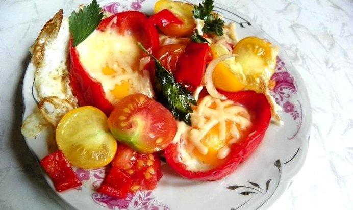 Яичница с помидорами  пошаговый рецепт с фото