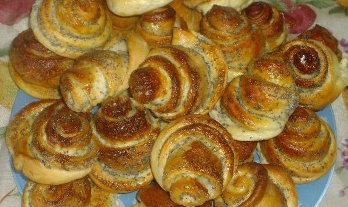 Рецепт булочки с маком рецепт пошагово в духовке