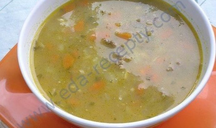 Рецепт супа из перловки