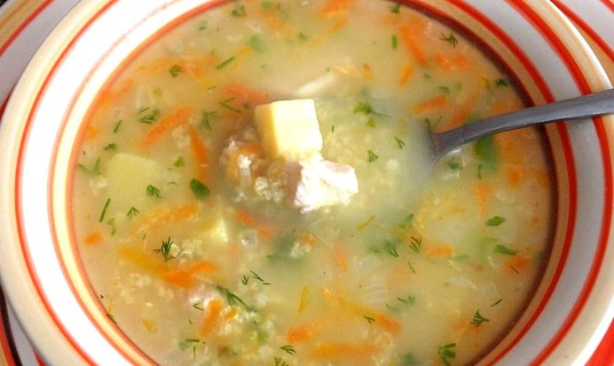 суп из хека с пшеном рецепт